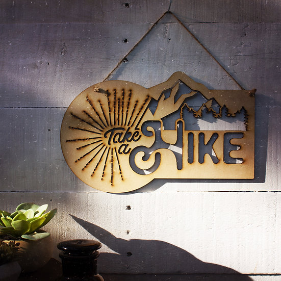 Take a hike wall hanging