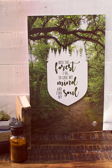 Into the Forest I go to Lose my Mind and Find my Soul poster