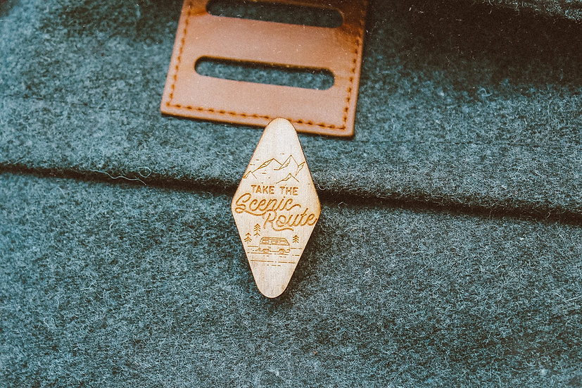 Take the Scenic Route pin