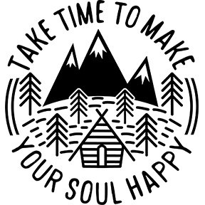 Take time to make your soul happy decal