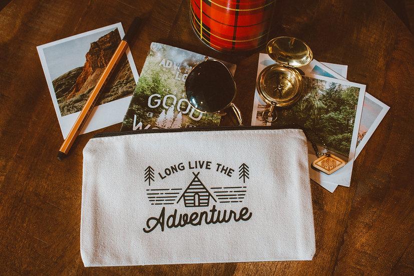 long live the adventure white travel bag