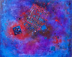 Woven Dark Evening - 20x16, $650