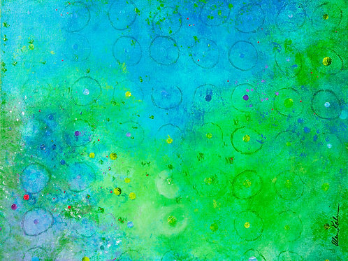 Circles I: Green/Turquoise