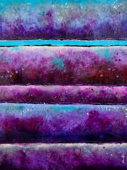 Purple Strata - 18x24, $850