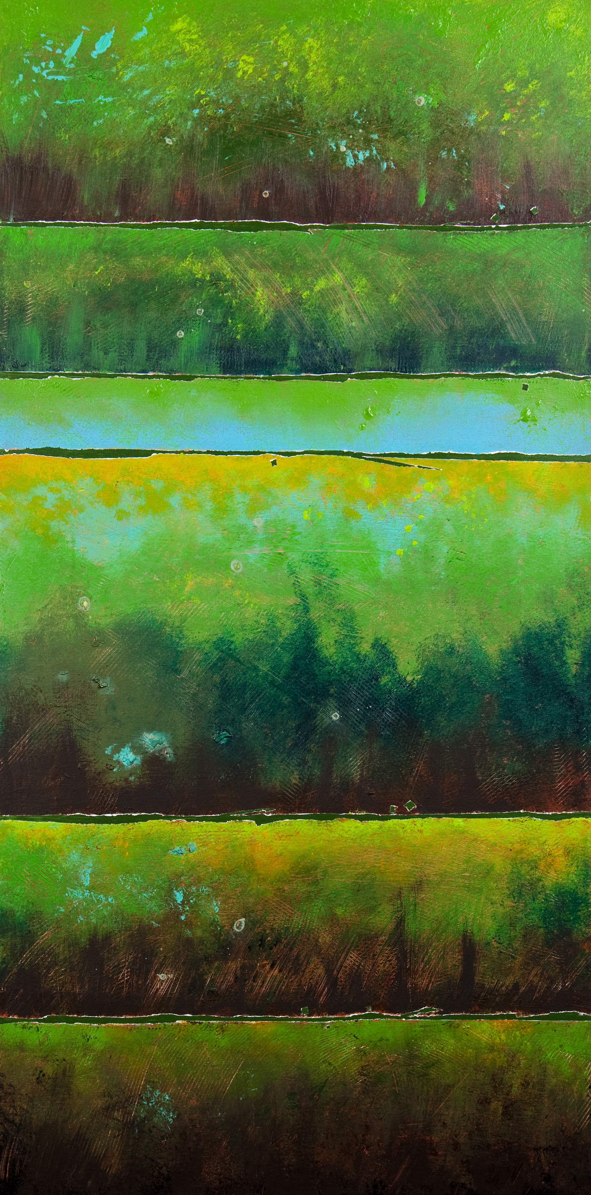 Green Earth Strata - 18x36, 1100