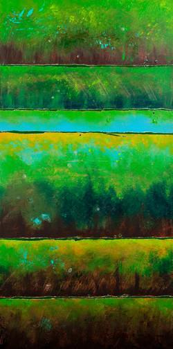 Green Earth Strata - 18x36, 1100