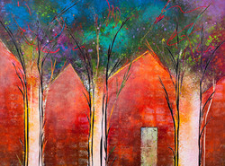 Houses in the Woods - 24x18, $850