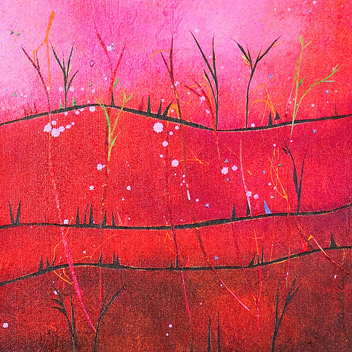 Pink Hills Green Shoots