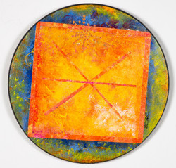 "Sun Signs IV - 17.5"", $525"