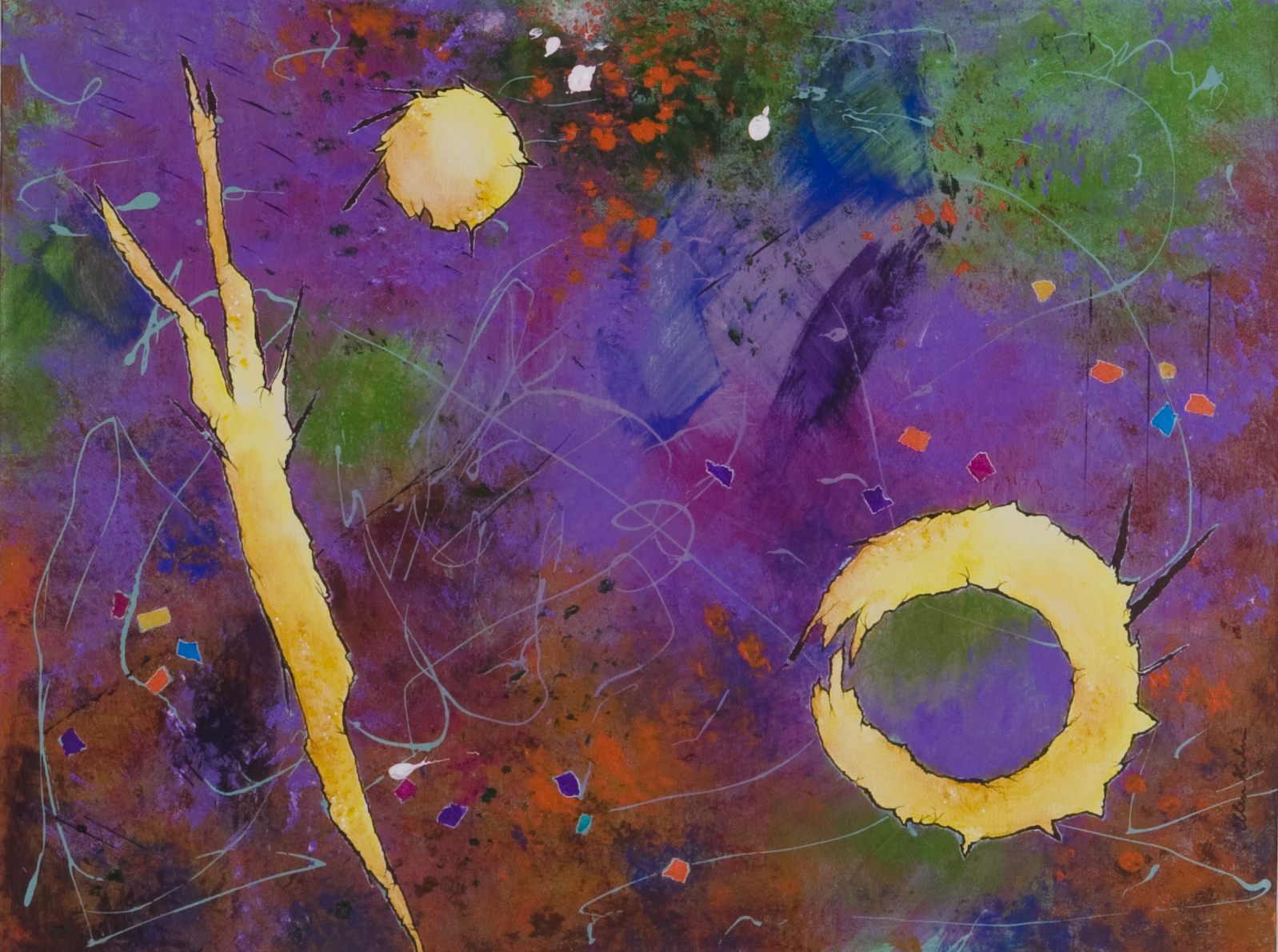 Signs in Space II - 24x18, $750