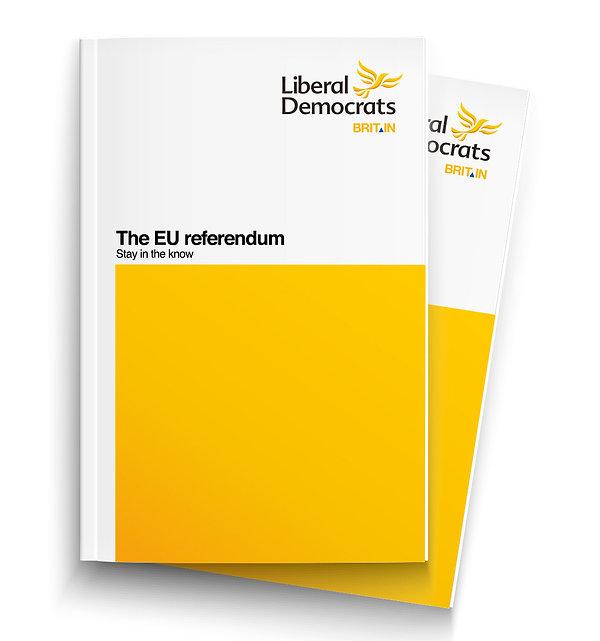 Lib Dems EU Referendum brand dev brochur