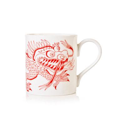 White & red dragon