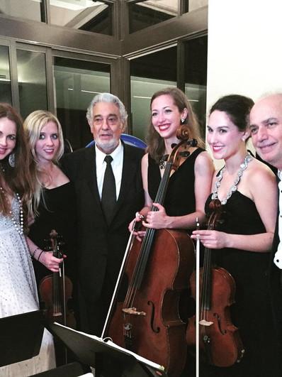 With Placido Domingo & Wynwood Trio
