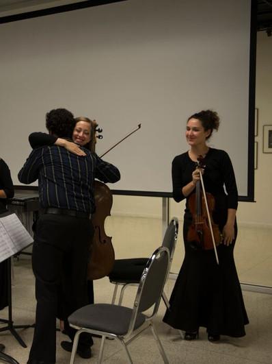 With composer Emmanuel Berrido