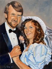 80s Wedding Portrait