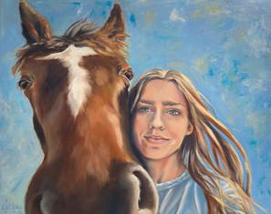 Meghan & her horse