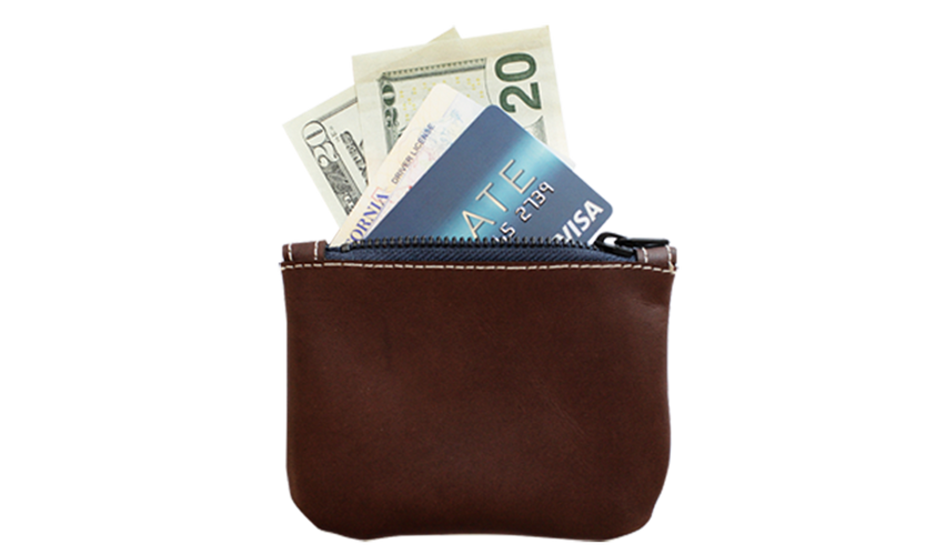 timmymays custom leather wallet zip pouc