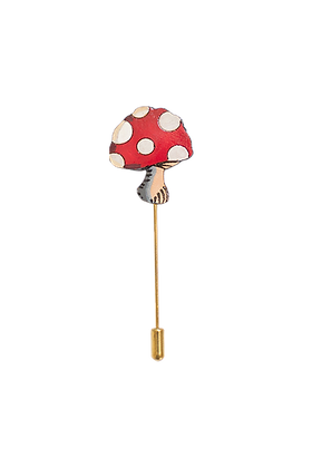 MAGICAL MUSHROOM LAPEL + HAT PIN