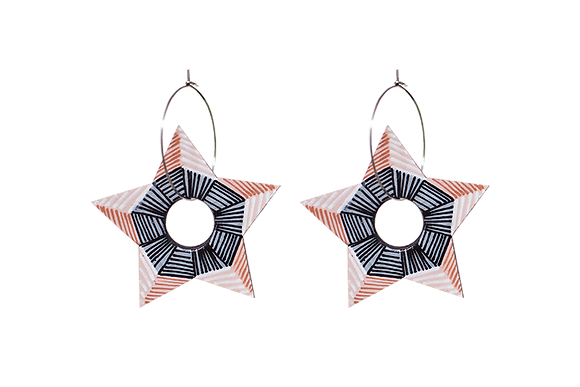 KALEIDOSCOPE STAR EARRINGS