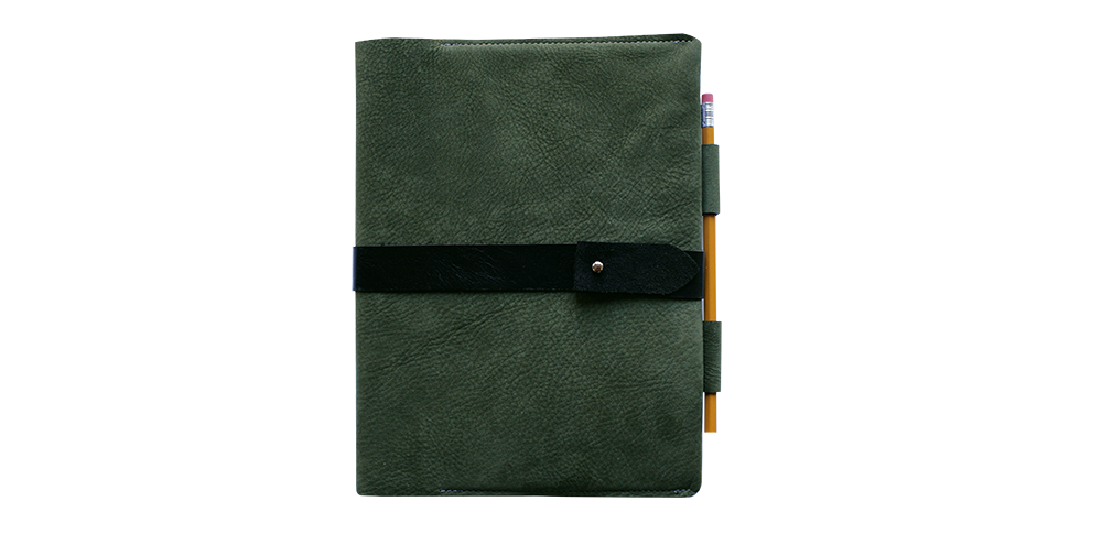 timmymays custom leather notebook