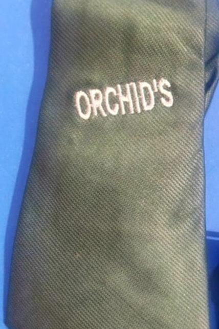 Orchid School Tie