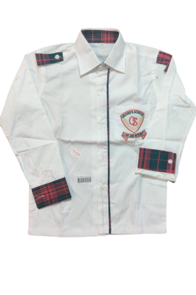 Orchid School winter shirt red check nur lkg ukg and all girls