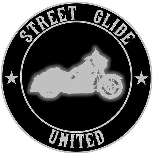 "3.5"" Sticker Street Glide (choose color)"