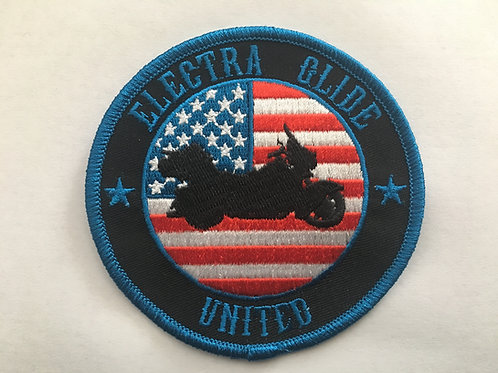 "3.5"" American Flag Patch Electra Glide"