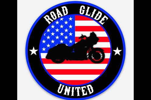 "3.5"" American Flag Road Glide Sticker"