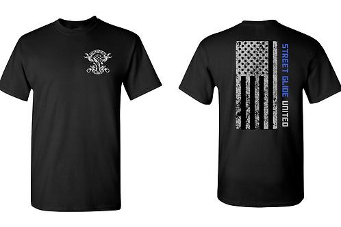 Street Glide United Flag Design T shirt