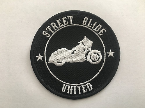 """3.5"""" Street Glide United Patch (choose color)"""