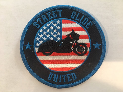 "3.5"" American Flag Patch Street Glide"