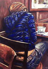 breakfest london portrait painting