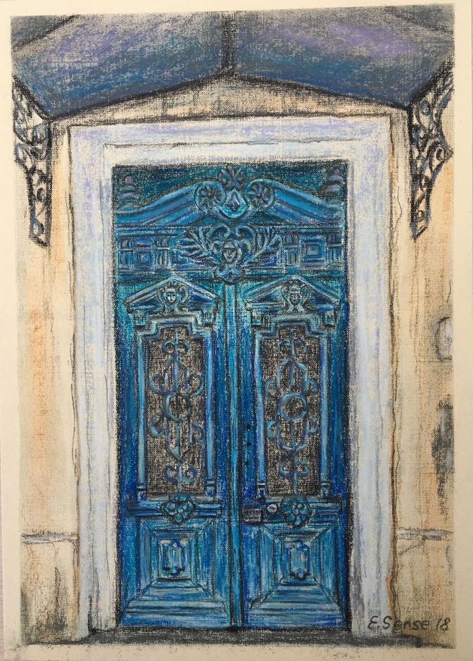 Old door in Odesa
