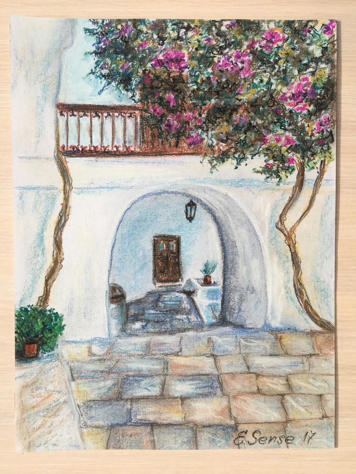 Courtyard in Greece