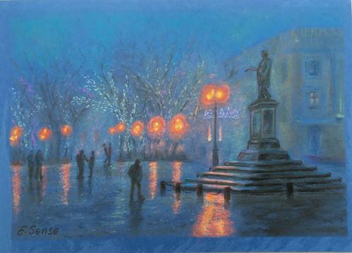 Odesa in fog
