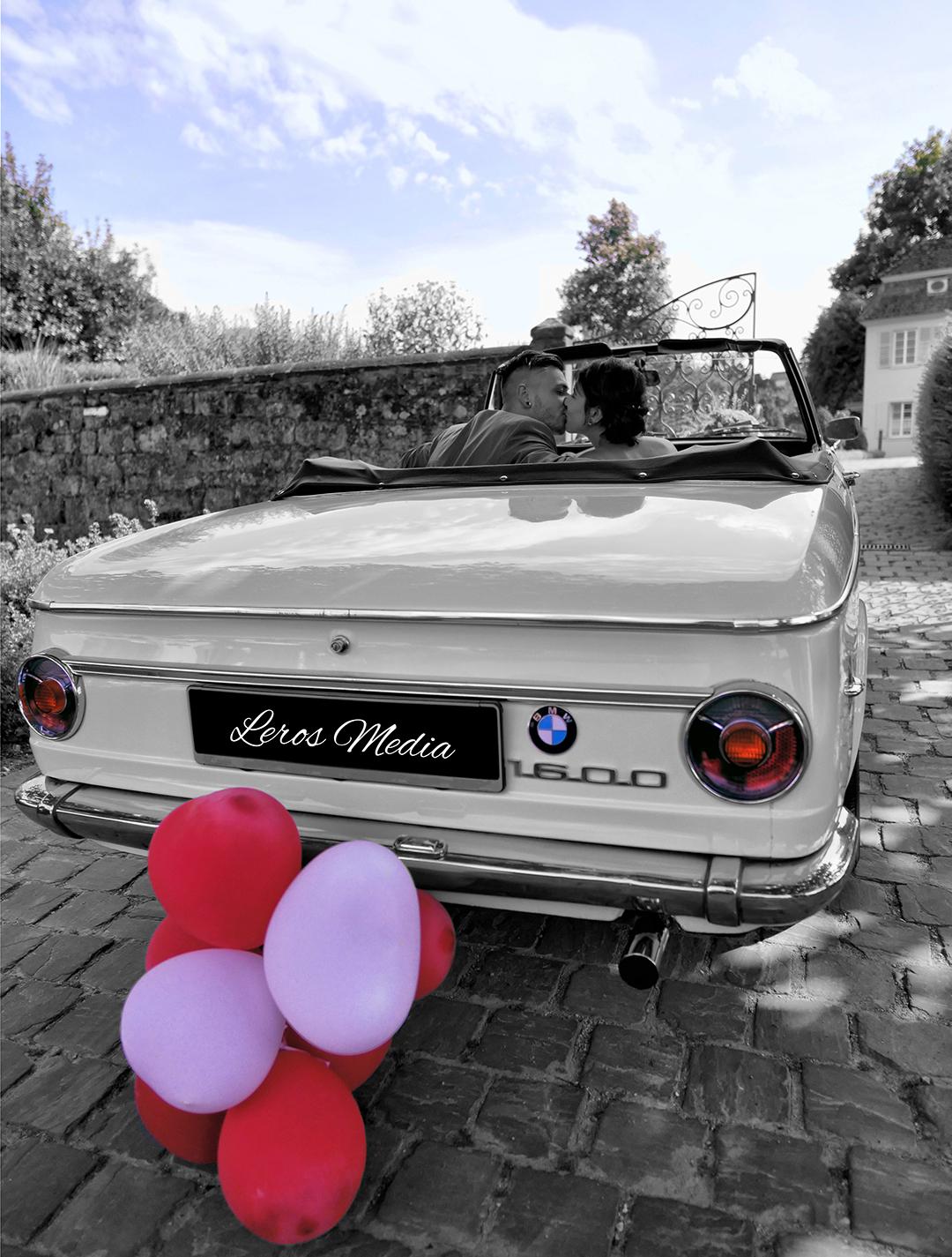 Brautpaar Auto Leros Media