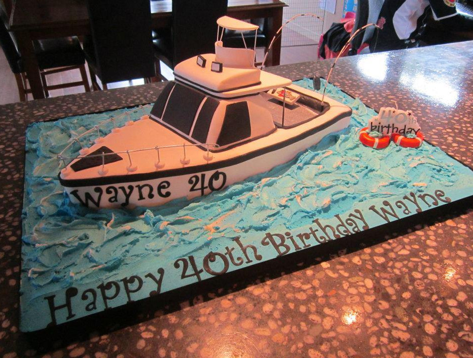 Specialty car cakes by Cakes by Kim, Central Otago  Fishing Boat Cake