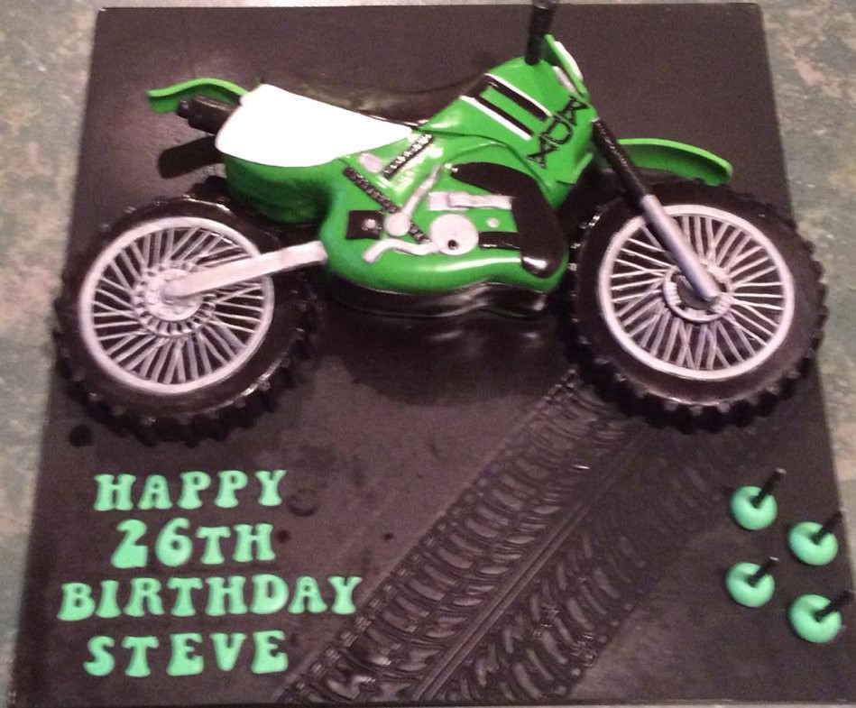Specialty car cakes by Cakes by Kim, Central Otago  Motorcross Cake