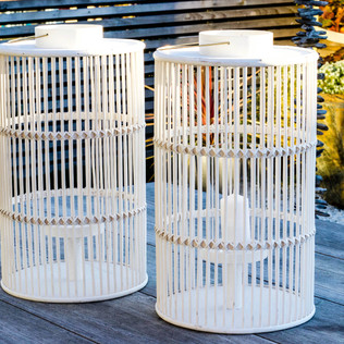 Contemporary Bamboo Candle Cage
