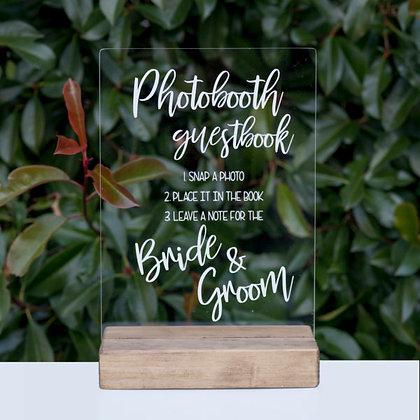 Acrylic Photobooth Sign
