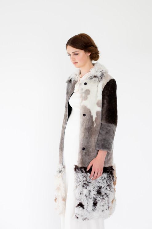 Multi-coloured Fur Coat