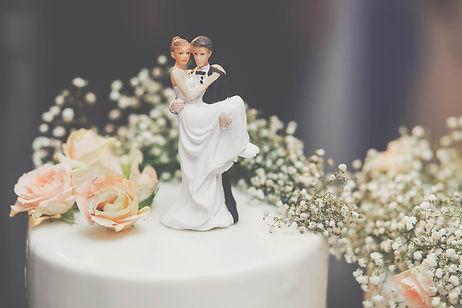 bride and groom on cake New Zealand wedding