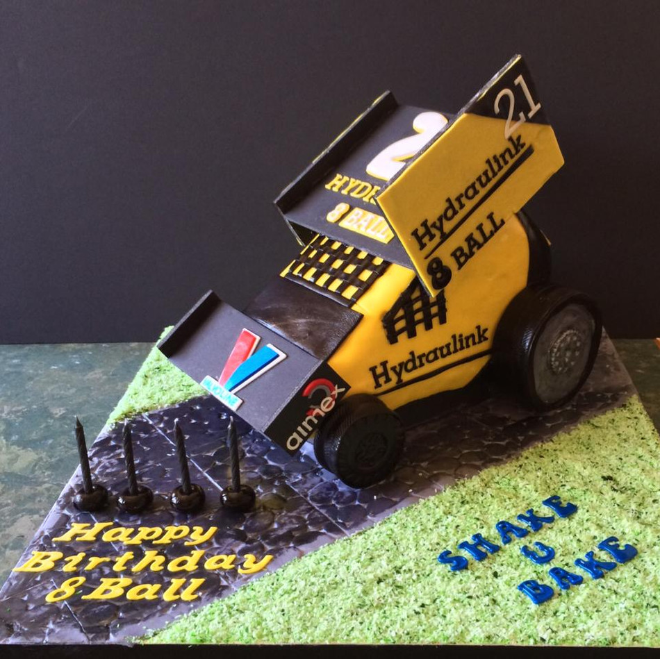 Specialty car cakes by Cakes by Kim, Central Otago  Stock Car Cake