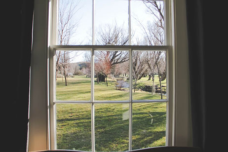 Through the Window Lombardy Cottage Central Otago