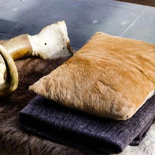 Skin Cushions and Horns