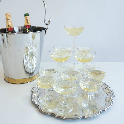 Champagne Saucers - Plain