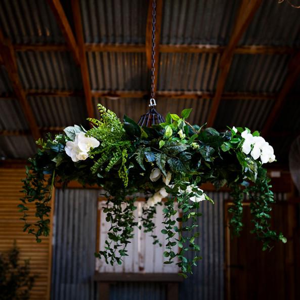 Hanging Chandelier - White
