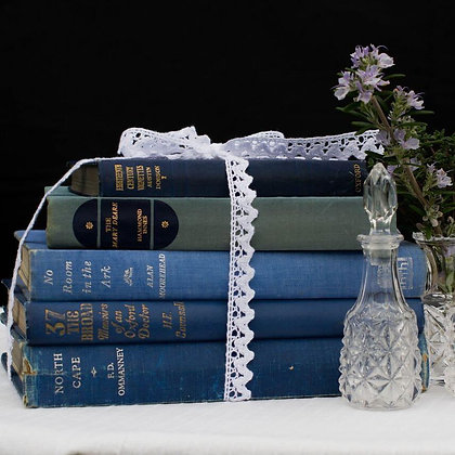 Vintage Books - Green, Blue, Red, Cream & Gold