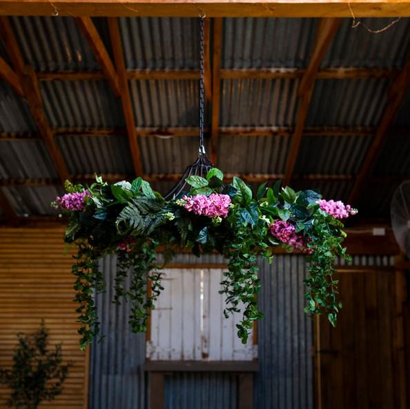 Hanging Chandelier - Pink